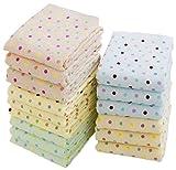 徳用カラードットタオル5色15枚組