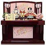 吉徳 雛人形 親王収納飾り 間口60×奥行42×高さ62cm ワイン塗収納箱 605457