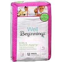 Well Beginnings Youth Sleep Pants Girl, Large/X-Large-12 ea by Well Beginnings [並行輸入品]