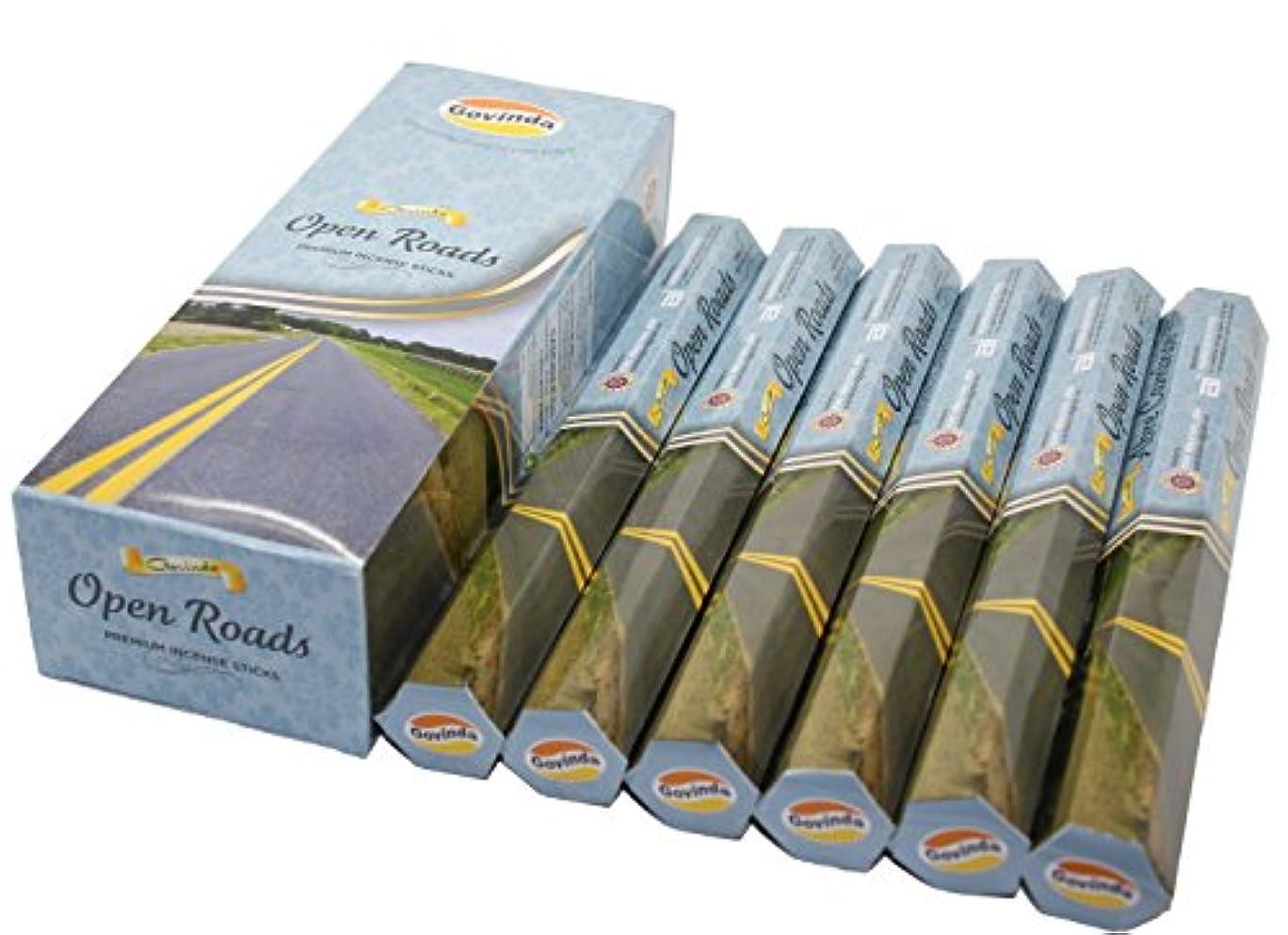 退屈させるなめる順応性のあるGovinda ® Incense – Open Roads – 120 Incense Sticks、プレミアムIncense、Masalaコーティング