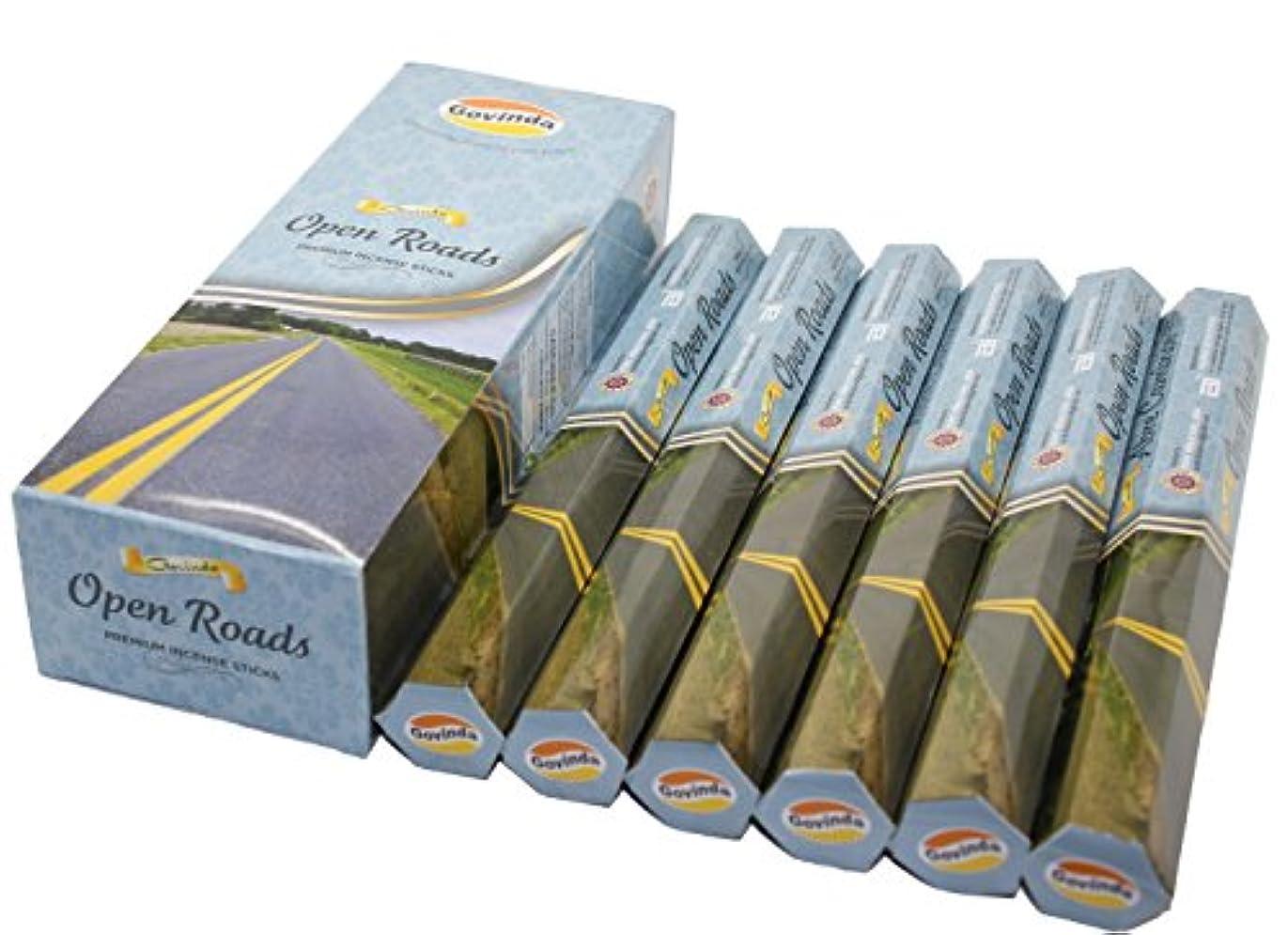 立法裁量植物学Govinda ® Incense – Open Roads – 120 Incense Sticks、プレミアムIncense、Masalaコーティング
