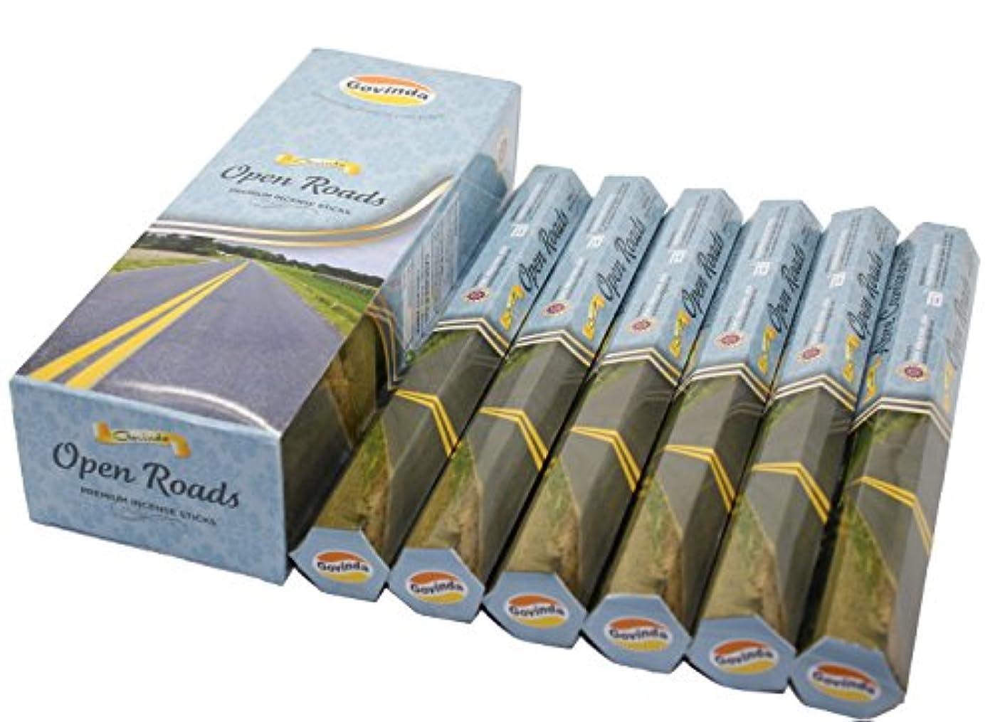 スチュアート島バイパス貴重なGovinda ® Incense – Open Roads – 120 Incense Sticks、プレミアムIncense、Masalaコーティング