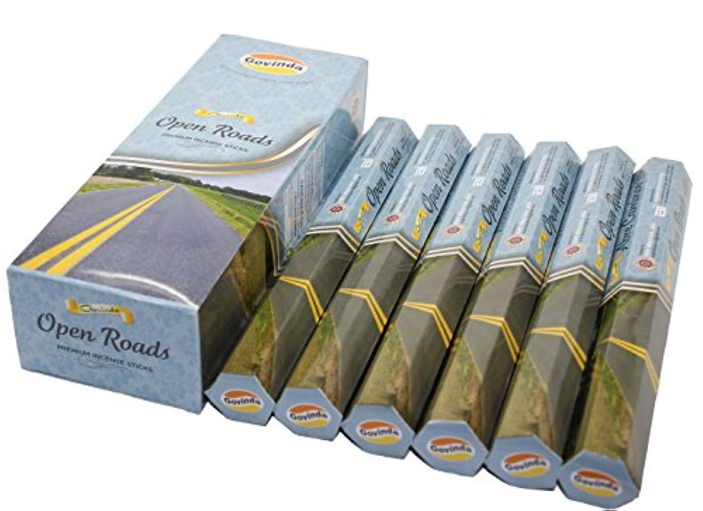 居心地の良いエッセイ敵対的Govinda ® Incense – Open Roads – 120 Incense Sticks、プレミアムIncense、Masalaコーティング