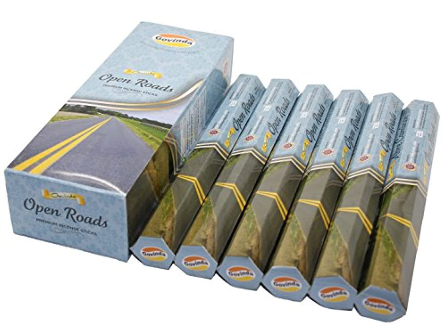 情熱降ろす罪Govinda ® Incense – Open Roads – 120 Incense Sticks、プレミアムIncense、Masalaコーティング