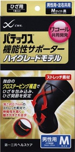 パテックス 機能性サポーター ハイグレードモデル ひざ用 黒 (男性用 Mサイズ)