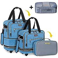 Biaggi Luggage Zipsak Boost! Expandable Underseat Luggage, Foldable Spinner Carry on