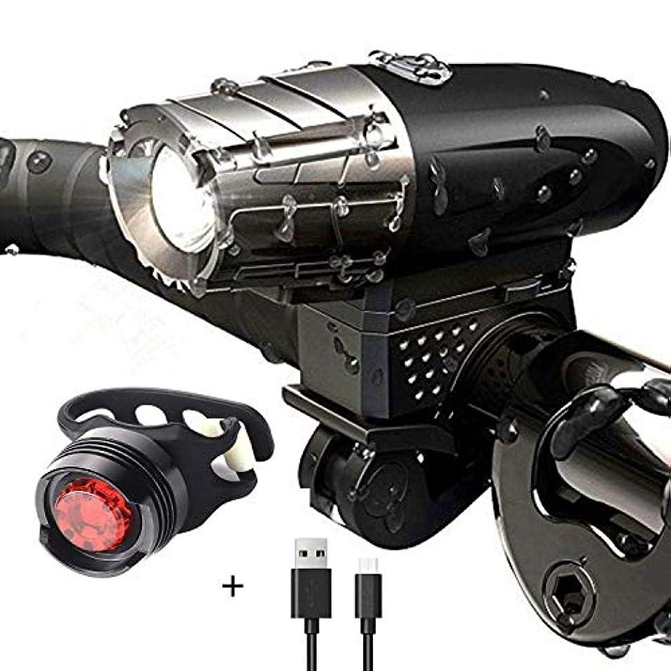 従順な処理移植ヘッドライト 安全な夜の乗馬のためのUSBの再充電可能なバイクライト、高い明るさの強力な防水山の自転車のヘッドライトそしてテールライト