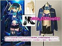 ウィッグ+靴+帽子+靴下+マフラー付き★Fate/Grand Order 謎のヒロインX 戦闘服 セイバー コスプレ衣装
