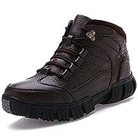 [スター イー ビズネス] ウォーキングシューズ メンズ ブラック 軽量 革靴 秋冬 ボアあり フワフワ 人気 おしゃれ ブラウン 25.5cm