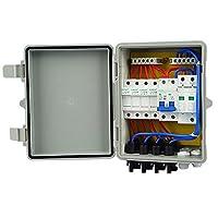 Eco LLC 4/ 6文字列PV結合ボックス10A Breaker forソーラーパネルオフグリッドシステムキット 4 String Combiner Box L03040401017-1