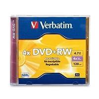 DVD + RW、W/ジュエルケース、1x - 4X Recording速度、4.7GB Qty : 10