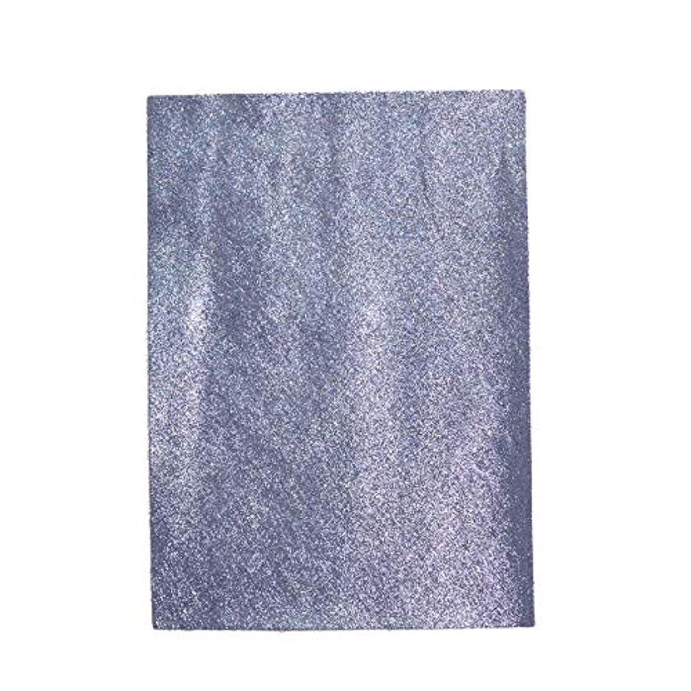 ワックス郵便屋さんウェイドTOKEN トーケン レザークラフト 材料 皮 革 日本産 牛革 ステア ヌバック 微粒子箔 ラメ レザー 厚さ 約1.0mm?1.4mm (ブルーシルバー, A4)