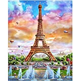 Kasting 5D Diamond Painting Kits for Adults Full Drill, DIY Cross Stitch Crystal Mosaic Picture Artwork for Home Wall Decor Gift Tower 30X40cm
