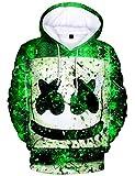 パーカー スウェットシャツ Marshmello DJ マシュメロ おしゃれ カジュアル 3Dプリント フード付き 男女兼用 プレゼント スポーツ 演出会 応援会 (XS)