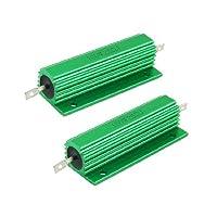 100W 25オームグリーンアルミ収納された巻線型抵抗器2個