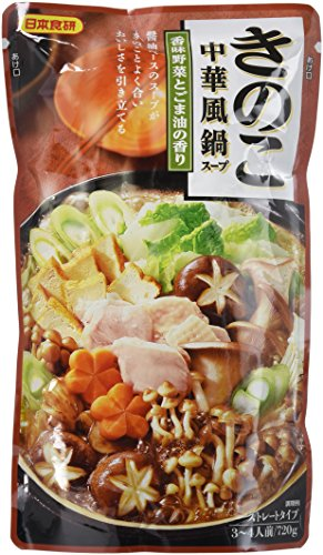 日本食研 きのこ中華風鍋スープ 720g×2個