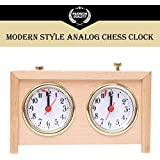 BETTERLINE Analog Chess Clock Timer | Professional-Grade Wooden Clock | Wind-Up Mechanism | Large Easy-to-Read Dials | No Battery Needed | by Better Line [並行輸入品]
