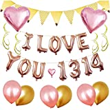 Coinar バルーン 結婚式 love 風船 パーティー 誕生日 飾り付け セットおしゃれ プロポーズ 記念日 お祝い 告白 バレンタイン応援 サプライズ 装飾 ハートバルーン 飾りセット