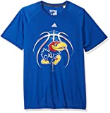 adidas 長袖Tシャツ NCAA Kansas JayhawksメンズライトボールUltimate S / TeelightボールUltimate S / Tee、カレッジロイヤル、Large