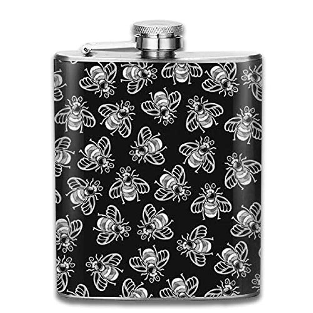 調整する工業用毎日ミツバチ フラスコ スキットル ヒップフラスコ 7オンス 206ml 高品質ステンレス製 ウイスキー アルコール 清酒 携帯 ボトル