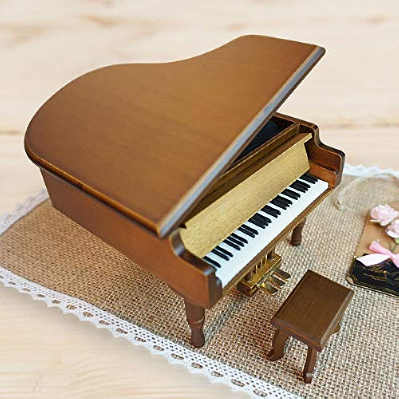 職人のメタルペダルゴールドメッキムーブメント木製ピアノオルゴールクリスマスギフト