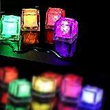 光る氷 キューブアイスライト LEDセンサーライト (ランダムフラッシュ 12個セット)