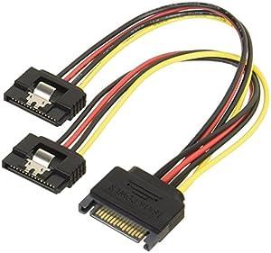 変換名人 SATA電源(15ピン) 2分岐ケーブル ロック付 SPR/2