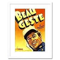 Movie Film Beau Geste French Foreign Legion Drama Desert Framed Wall Art Print 映画膜フランス語ドラマ砂漠壁