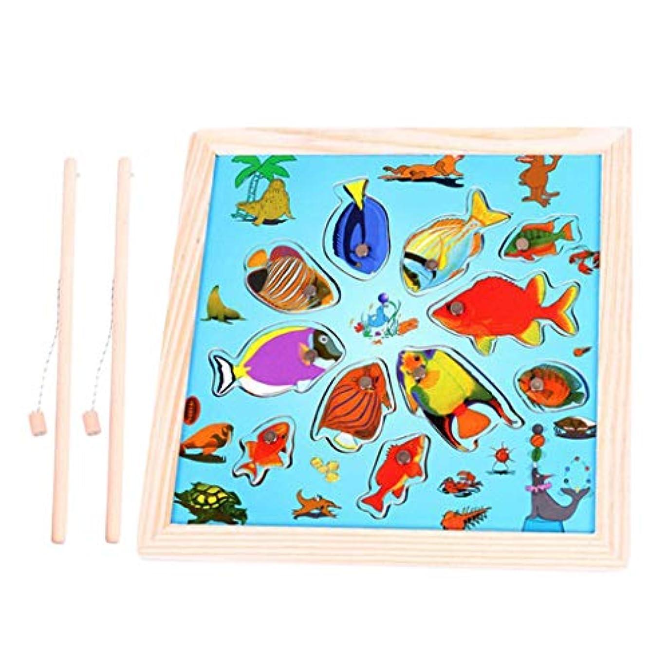 シマウマ証明ゲージ子供 幼児 魚釣り ジグソーパズル 早期教育 フィッシング遊び