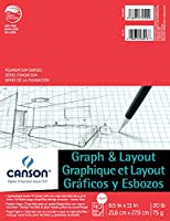 (22cm x 28cm, 4/4 Grid) - Foundation Series Graph & Layout Paper Pad, 22cm X 28cm Fold Over