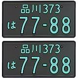 【2枚組セット】井上工業 字光式ナンバープレート 2468-12V-M クロームメッキ LEDパーフェクトecoII 普通車用