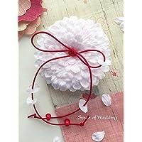 桜の花びらリングピロー手作りキット(イタリア製サテン使用)