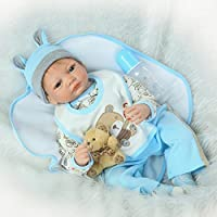 So Truly Real Lifeベビーボーイ人形Reborn新生児幼児ダミーブルーEyesソフトシリコン手足、22インチ