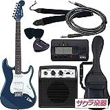 SELDER セルダー エレキギター ストラトキャスタータイプ サクラ楽器オリジナル ST-16/MBL 初心者入門ベーシックセット