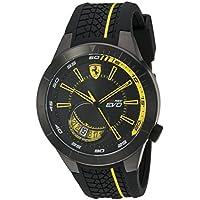 ブラック メンス アナログ カジュアル クォーツ Ferrari 時計 RedRev Evo ???? 0830340
