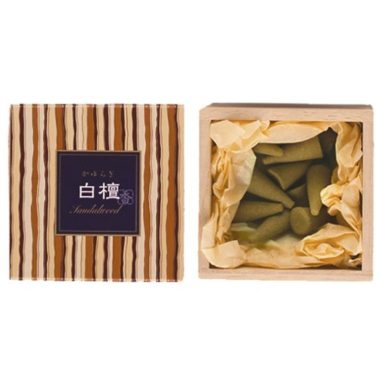 人差し指信頼性消化器Nippon Kodo – Kayuragi – サンダルウッド12 Cones