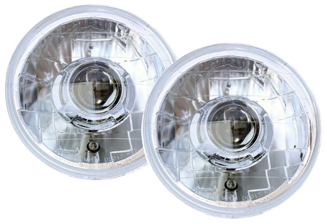 普遍的な作り上げる伸ばすIPCW CWS-420C Jeep Wrangler 2007 - 2013 Head Lamps, Projector Chrome
