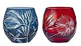 タンブラー セット キリコ フリー ペア グラス サキシマボタンヅル カワラナデシコ 青 赤 350ml HG880-T106