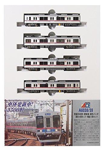 マイクロエース Nゲージ 京成3500形・更新車・菱形パンタ 基本4両セット A6038 鉄道模型 電車の詳細を見る