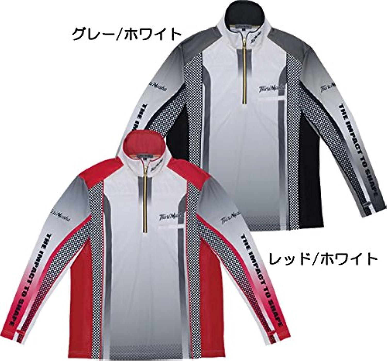 釣武者 スタイリードライシャツRE M~XXL レッド/ホワイト