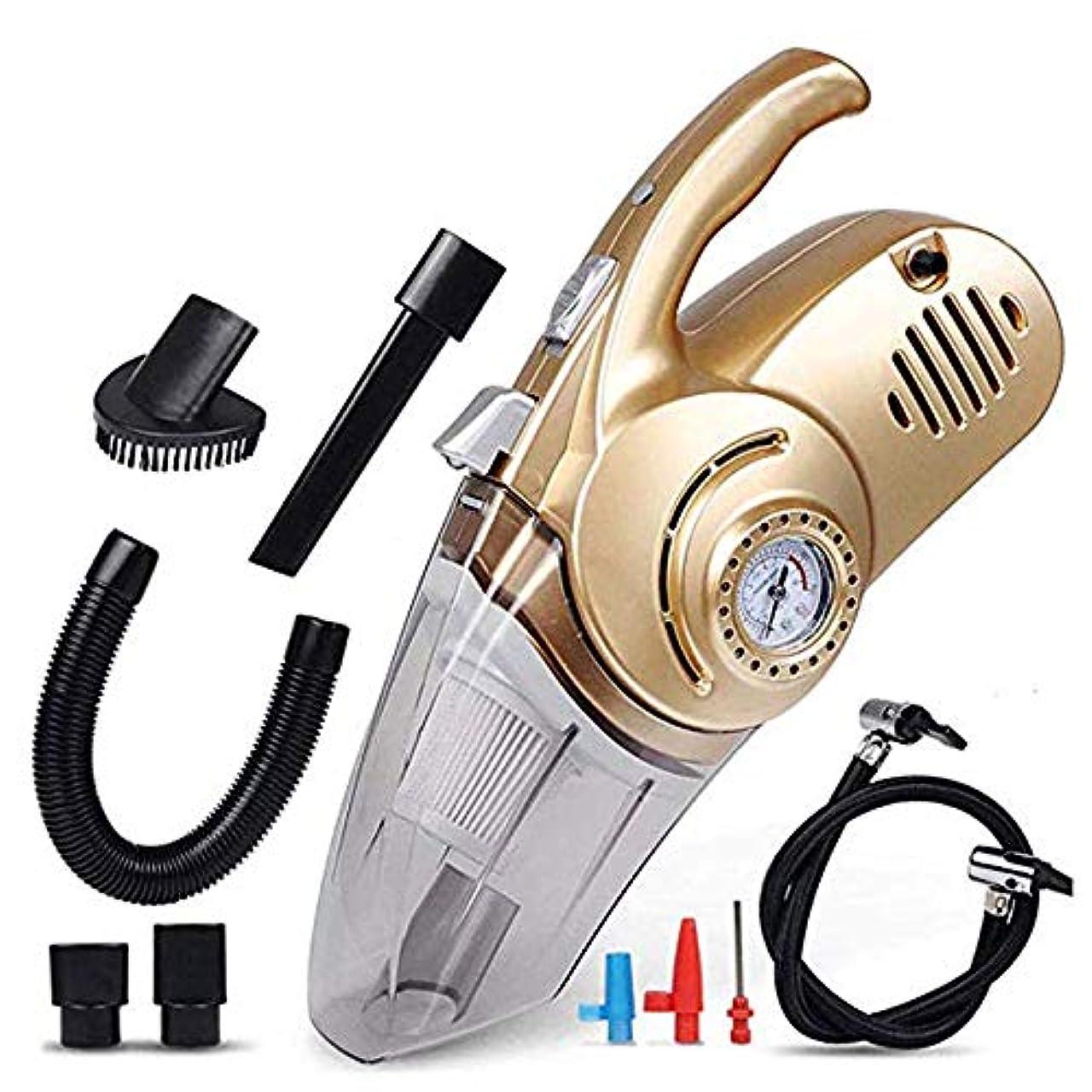 消える画像不要車用掃除機、4 in 1車用エアポンプ12V乾湿両方の照明高出力ポータブルハンドヘルドミュート家庭、床、カーペット、人のペットの髪に最適