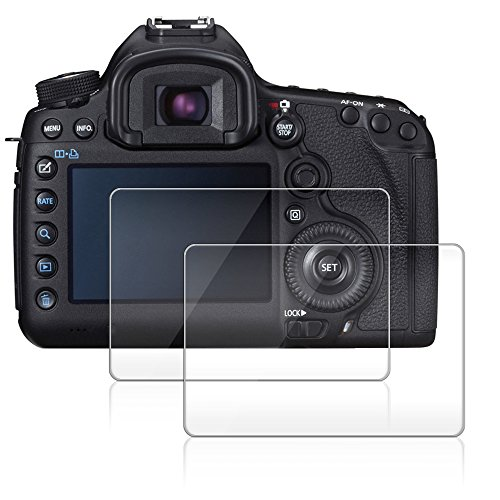 Canon EOS 5D Mark III / MK 5DS / 5DSR / 5DIII専用 ガラスフィルム AFUNTA MarkIII 用 液晶保護フィルム 保護フィルム スクラッチ防止 2枚入り