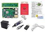 Raspberry Pi 3 Model B+ Server エキスパートセット (基板本体 + ヒートシンク + モニター機能付き充電ケーブル + USB-ON/OFFスイッチ + 2.4A 電源 + LANケーブル(CAT6) + 取説 + 故障時1年間交換可)