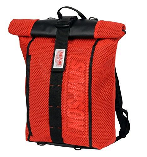 シンプソン(SIMPSON) バイク用バッグ Water Proof Roll Up Bag Pac(ウォータープルーフロールアップバックパック) レッド フリーサイズ SB-320