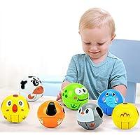 Balai Toddlers Baby Roly - PolyタンブラーおもちゃMusicalおもちゃPush and Goローリングボールクロールノベルティ早期教育玩具 グリーン Balai 020
