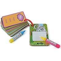 PovKeever ぬりえ 子ども お絵かき 塗り絵 英単語 カード 英語学習 知恵玩具 二本通用ペン付属