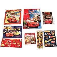 Disney CarsアクティビティGiftセット~チーム95 Celebration ( Holiday Coloring Book、メタリック、クレヨン、鉛筆、ジャーナルノートブックwithステッカー、マグネット、Disneyコミック、7アイテム, 1バンドル)