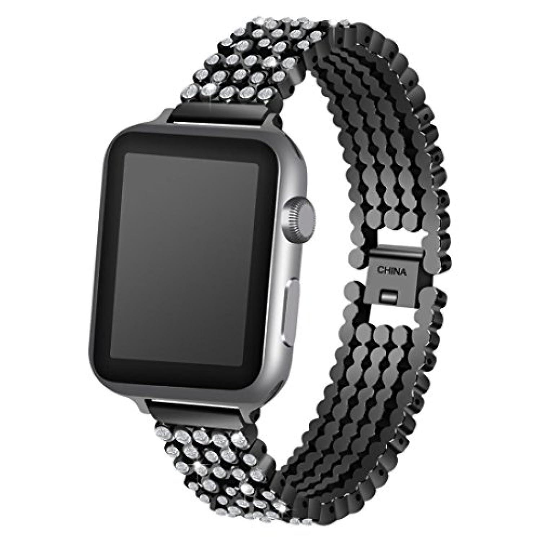 inverlee Luxury合金withクリスタルリンクブレスレットウォッチバンドストラップfor Apple Watch 38 / 42 mm 38mm