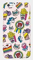 【アイ・ラブ・ショップ】 ILOVE SHOP iPhone&Glaxy 2色の猫とユニコーンポップアートパターンポリカーボネートデザインケース.CH.HC (iPhone 7, 1.PINK) [並行輸入品]