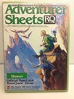 Rune Quest Adventurer Sheets: Human Adventurer Sheets by RuneQuest Avalon Hill